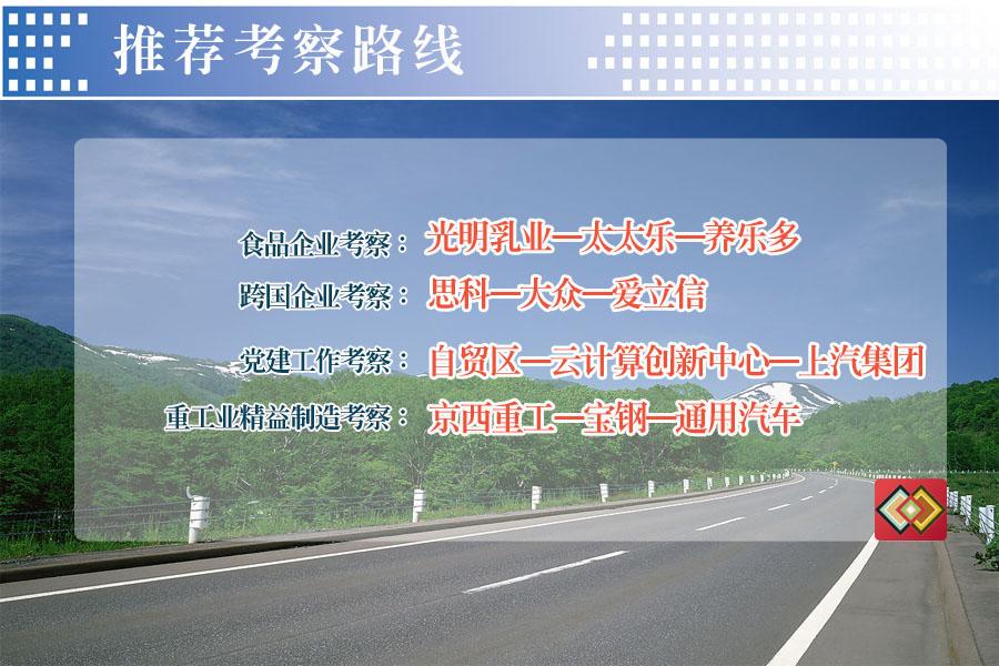 上海考察路线