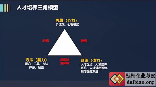 阿里铁军人才培养的三角模型